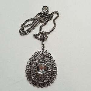 GYPSY MEDALLION DROP MOONDUST NECKLACE NEW